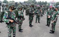 Pasukan Armana Jaya XXXIX Gelar Apel di Markas Marinir Cilandak
