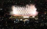 Pertunjukan Spektakuler Pesta Kembang Api Pembukaan Olimpiade Tokyo