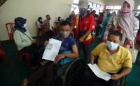 Penyandang Disabilitas Kabupaten Tegal Divaksin Covid-19