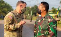 Jenderal Andika Perkasa dan Jenderal Angkatan Darat Amerika Buka Latihan Garuda Shield
