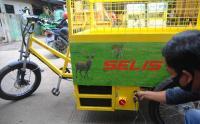 Sepeda Listrik Pengangkut Sampah Lebih Ramah Lingkungan