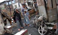 Kebakaran di Makassar Hanguskan Rumah Semi Permanen