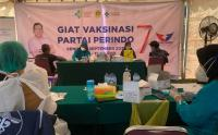 Antusiasme Tinggi! Vaksinasi Covid-19 Partai Perindo di Lido Lake Resort, Bogor Targetkan 1.000 Akseptor