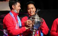 Reaksi Pemain Indonesia Setelah Kalahkan China di Final Piala Thomas