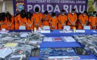 Polda Riau Amankan 59 Pelaku Bisnis Judi Online Beromset Puluhan Juta Perhari