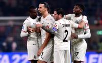 AC Milan Menang 4-2, Rossoneri Susah Payah Lawan Sembilan Pemain Bologna