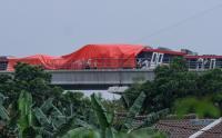 Begini Penampakan Kecelakaan LRT Jabodebek di Cibubur