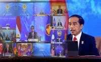 Presiden Jokowi Beri Sambutan di KTT ASEAN ke-38 Secara Virtual