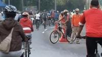 Jalan Sudirman-Thamrin Ramai Warga Berolahraga, Protokol Kesehatan Diabaikan