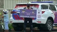Polisi Razia Masker di Bundaran Hotel Indonesia