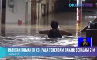 Ratusan Rumah di Kebon Pala Terendam Banjir Sedalam 2 Meter, Warga Memilih Bertahan Dirumah