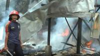 Gudang Minyak Ilegal di Jambi Terbakar