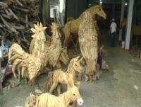 Patung Akar Kayu Jati Tembus Pasar Global