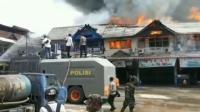 Belasan Ruko dan Bank Terbakar di Kalimantan Barat
