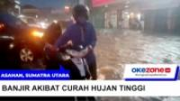 Hujan Deras, Kota Kisaran Terendam Banjir