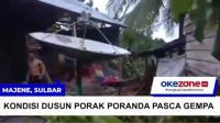 Rumah Warga Dusun Mekata Rata dengan Tanah Akibat Gempa