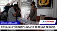 Densus 88 Tangkap 5 Orang Terduga Teroris di Aceh