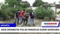 Aksi Dramatis Polisi Ringkus Kurir Narkoba di Jakarta