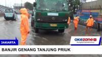 Banjir Genangi Ruas Jalan di Tanjung Priok, Jakarta Utara