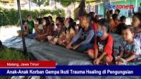 Anak-Anak Korban Gempa Ikuti Trauma Healing di Pengungsian
