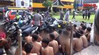 Puluhan Remaja Pelaku Balap Liar Ditertibkan Polisi