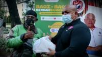 Berbagi Keberkahan Baja Perindo Bagikan Makanan, Masker, dan Face Shield di Kebon Sirih
