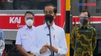 Presiden Jokowi Tinjau Vaksinasi di Stasiun Bogor
