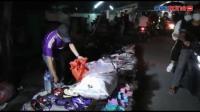 Pasar Malam Dibubarkan, Pedagang Panik Bereskan Dagangan