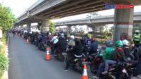 Kepadatan Arus Lalu Lintas Terjadi Sejumlah Titik Penyekatan di Jakarta