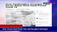 Viral, Kertas Hasil Swab Test Jadi Bungkus Gorengan