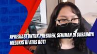 Apresiasi untuk Presiden, Seniman di Surabaya Melukis di Atas Roti
