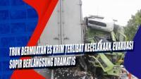Truk Bermuatan Es Krim Terlibat Kecelakaan, Evakuasi Sopir Berlangsung Dramatis