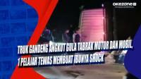 Truk Gandeng Angkut Gula Tabrak Motor dan Mobil, 1 Pelajar Tewas Membuat Ibunya Shock