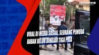 Viral di Media Sosial, Seorang Pemuda Babak Belur Dihajar Tiga Pria