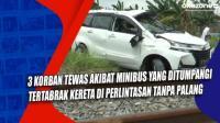 3 Korban Tewas Akibat Minibus yang Ditumpangi Tertabrak Kereta di Perlintasan Tanpa Palang