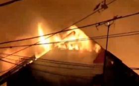 Ratusan Rumah dan Kios Terbakar di Tambora