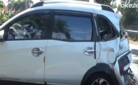Rem Blong, Truk Tronton Tabrak Mobil dan Motor di Lampu Merah