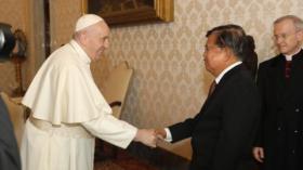 Jusuf Kalla Bertemu Paus Fransiskus di Vatikan Bahas Masalah Kemanusiaan