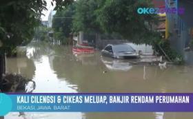 Kali Cilengsi dan Cikeas Meluap, Banjir Rendam 20 RT di Perumahan Villa Jatirasa Bekasi