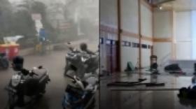 Puting Beliung di Bekasi, Atap Gedung Kesenian Rusak