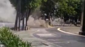 Kabel Terbakar, Asap Muncul di Sekitar Masjid Istiqlal