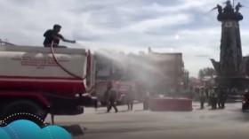 Bersihkan Abu Vulkanik, Pemkab Karo Kerahkan 3 Unit Damkar