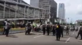 Antisipasi Demonstrasi, Ratusan Polisi Siaga di Kedubes Prancis
