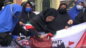 Aksi Emak-Emak di Medan Ajak Boikot Produk dari Prancis