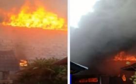 Gudang Kasur, Belasan Motor dan Mobil Terbakar di Bali
