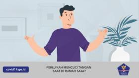 Perlukah Mencuci Tangan Saat di Rumah Saja?