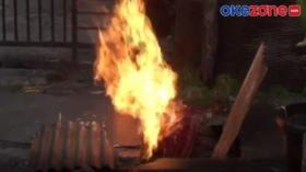 Pipa Gas Bocor di Permukiman Warga