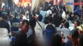 Ratusan Tamu Pesta Pernikahan Dibubarkan Satgas Covid-19