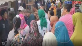 Emak-Emak Histeris Ikutan Gerebek Pesta Sabu di Sungai Deli