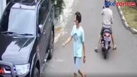 Aksi Pencurian Spion Mobil di Kelapa Gading Terekam CCTV